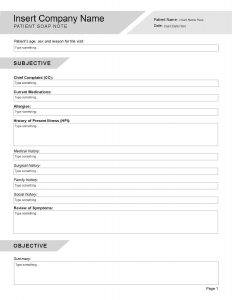 SOAP Note Template - Editable-page-001